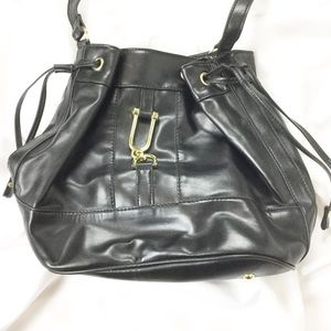 London Fog Black Bucket Bag